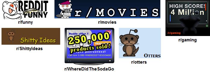 Reddit - Medley of Subreddit Logos